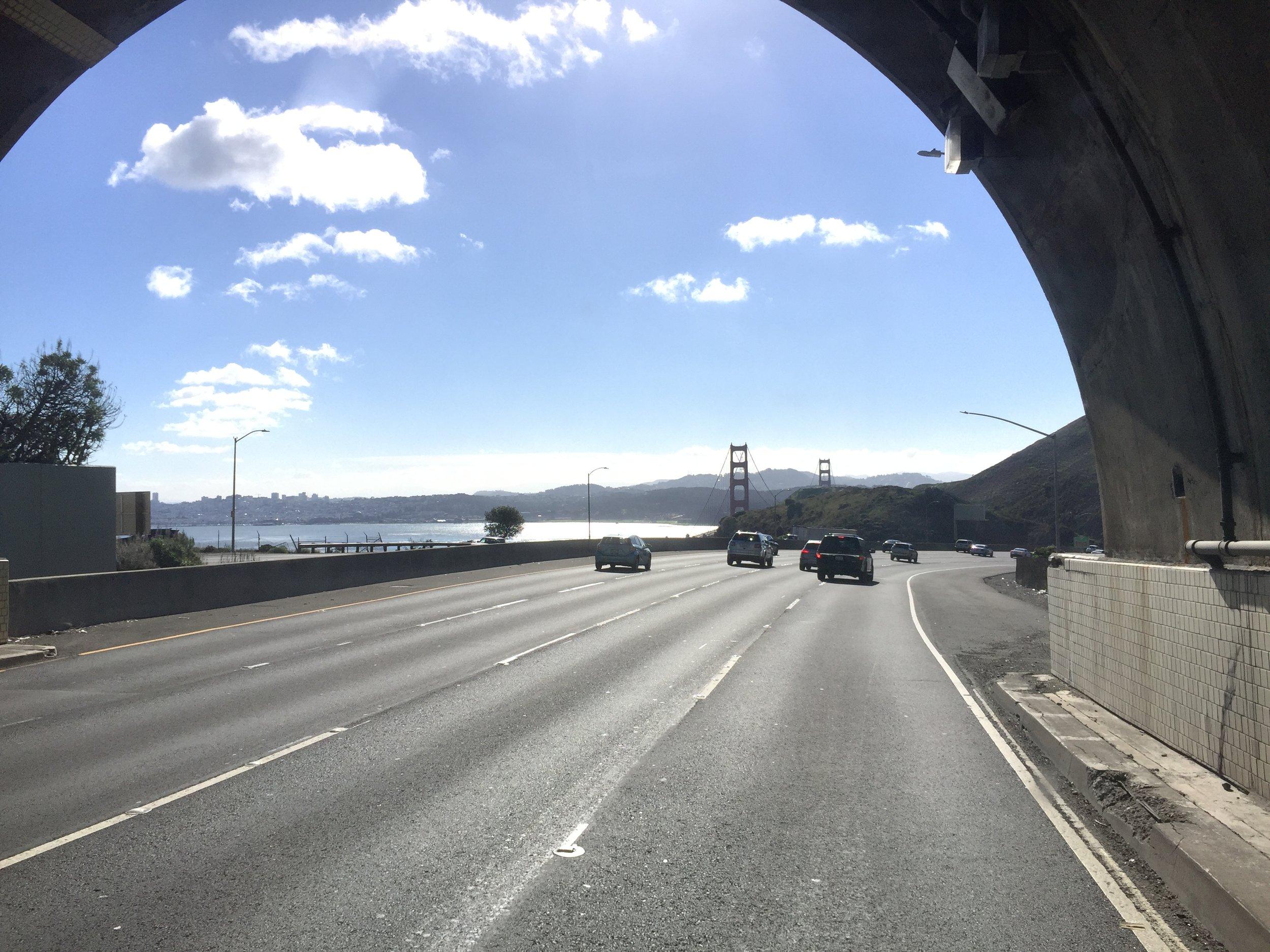 Surprisingly light California traffic.