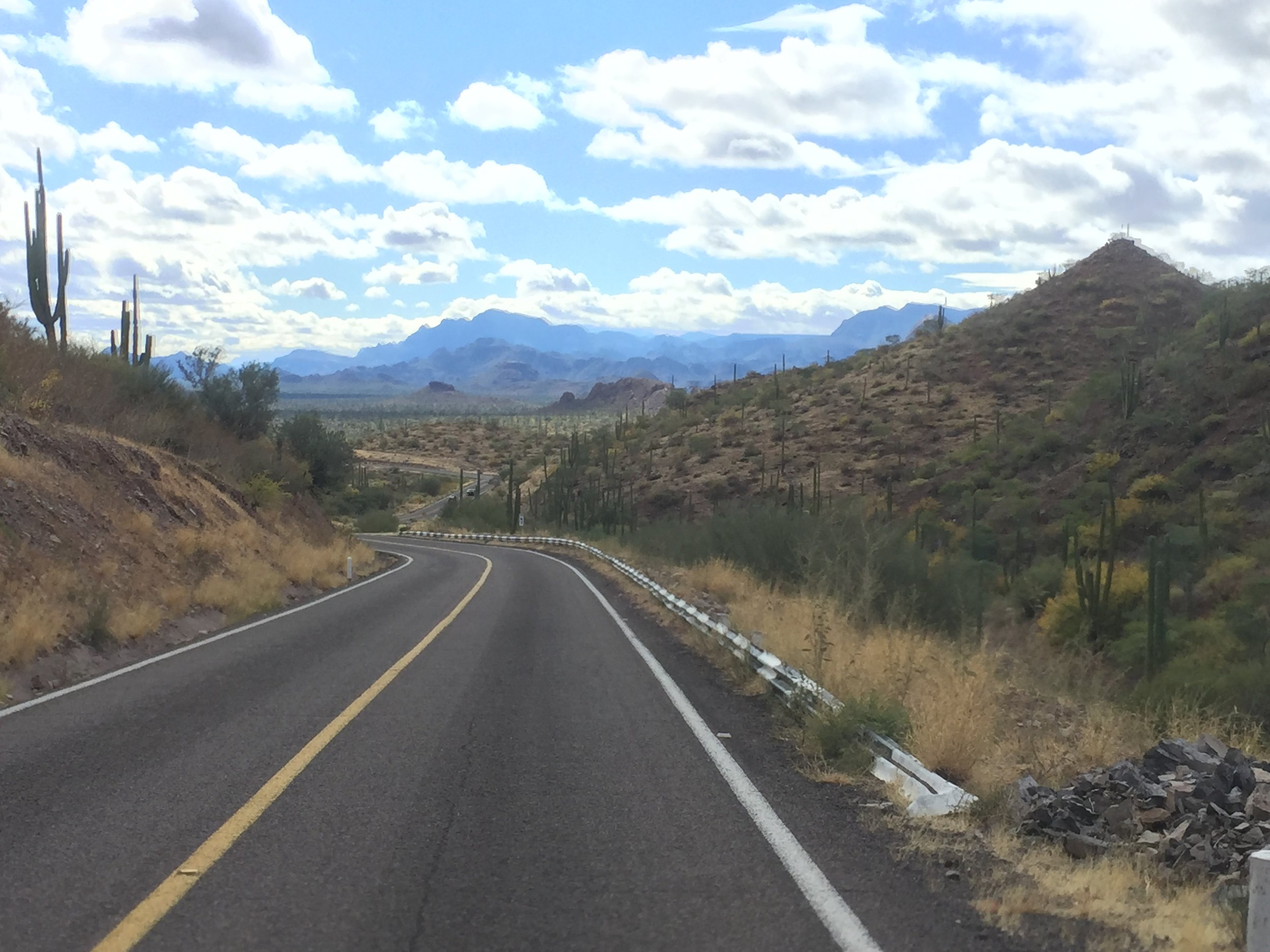 Mexico 1 is a great road. Just look at those mountains!