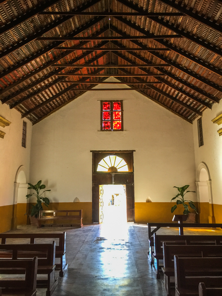 Many of the living missions we have been to on this trip exhibit breathtaking wooden ceilings.