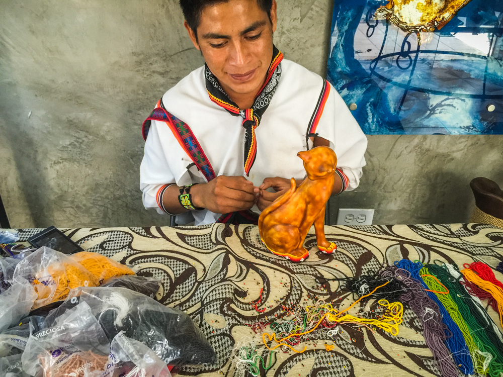 Some of the handicrafts being made in Todos Santos.