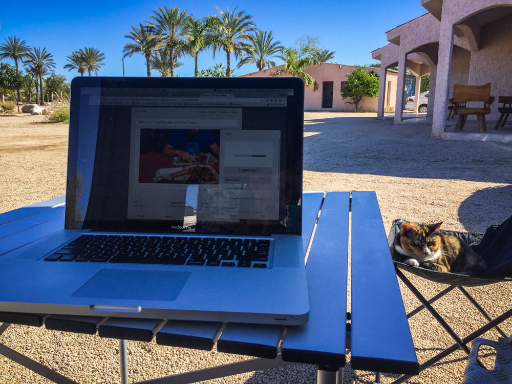 Down time at the rv park meant it was a good time to catch up on our blog posts.