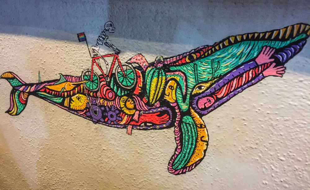 Street art in La Paz.
