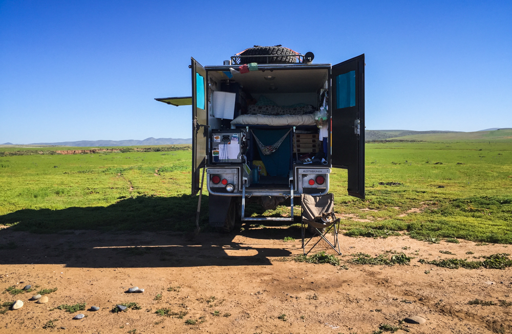 Camped! in the wide open!