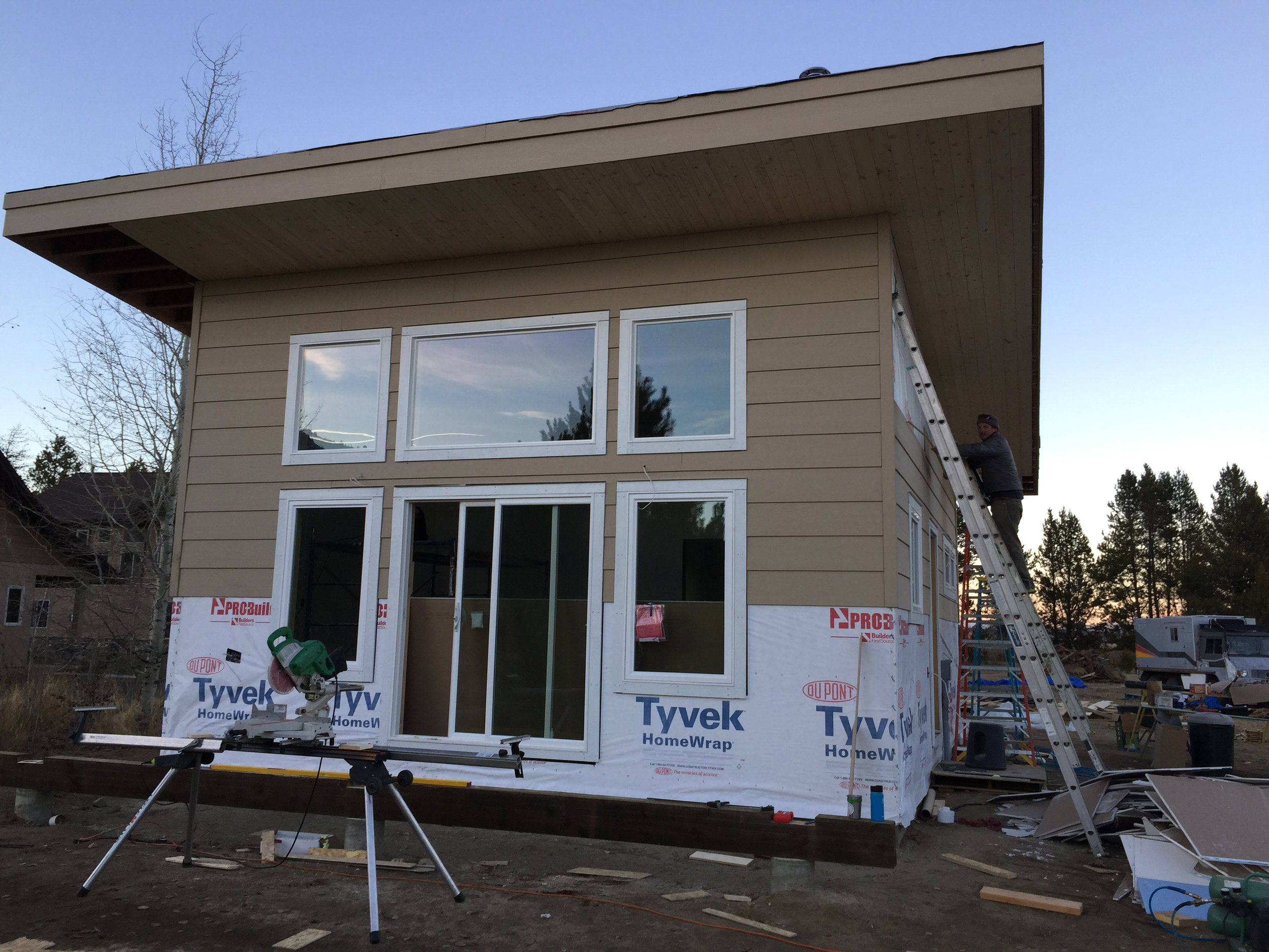 Siding going up!