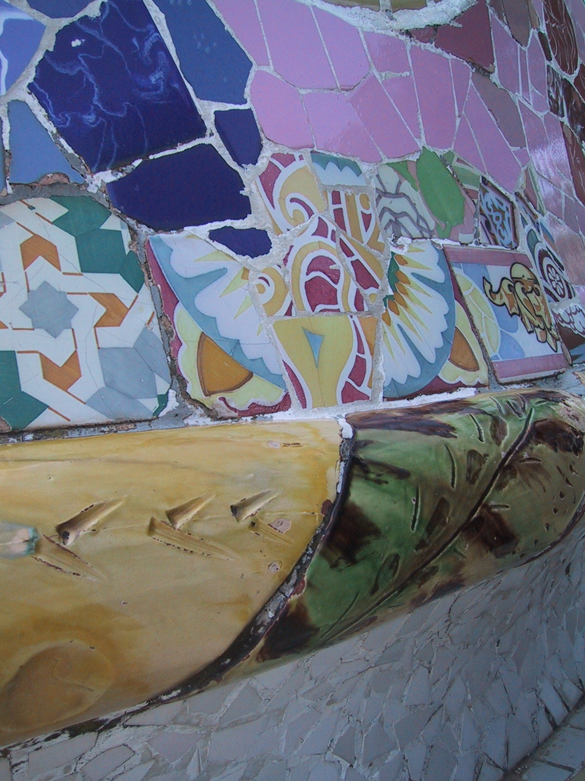 A bench in Parc Guell