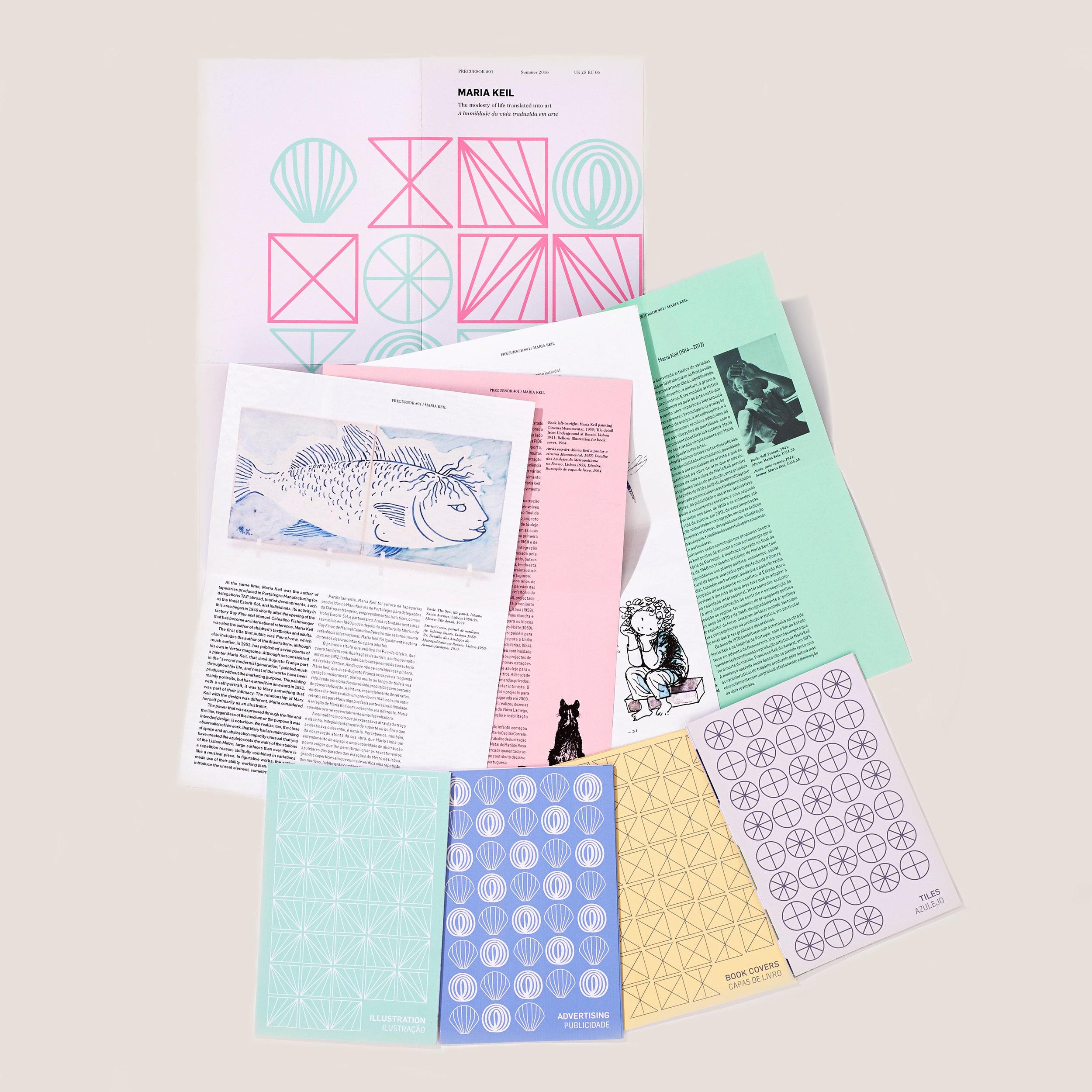 #2 - Precursor / Design Concept for Print and Digital Repository of Portuguese Art and Architecture / Illustration: Maria Keil