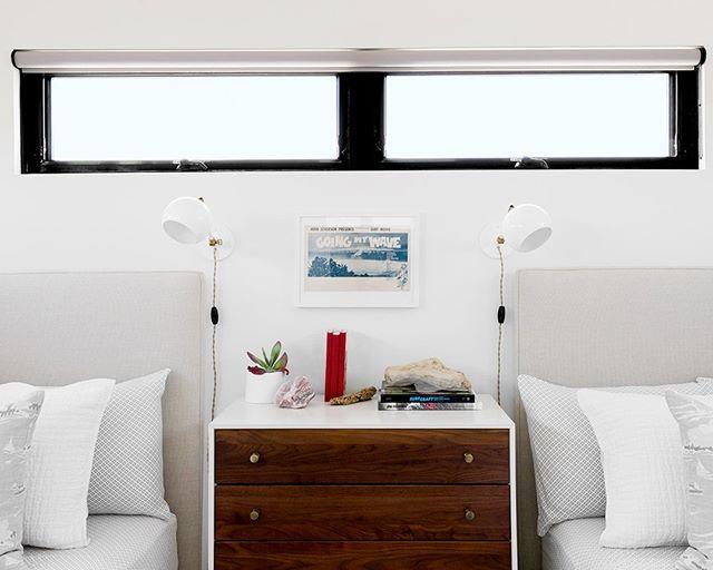 Sleek, symmetry, simplicity. The kids' room at the Ditch Plains Trailer project. ✨  Design by @aliciamurphydesign . . . #aliciamurphydesign #custominteriors #homesweethome #luxuryliving #hamptonshome #homestyle #modernhomes #styleathome #homedecor #customdesign #designandbuild #customfurniture #creativityfound #designdetails #interiordetails #homedesign #homerenovation #flashesofdelight #cozyhome #interiorstyling #dayinthelife #interiordesignerlife #nycinteriordesign #customhomes #customlifestyle #homestyling #ihaveathingwithfloors #moderninteriors #wallsconces #kidsroomdecor