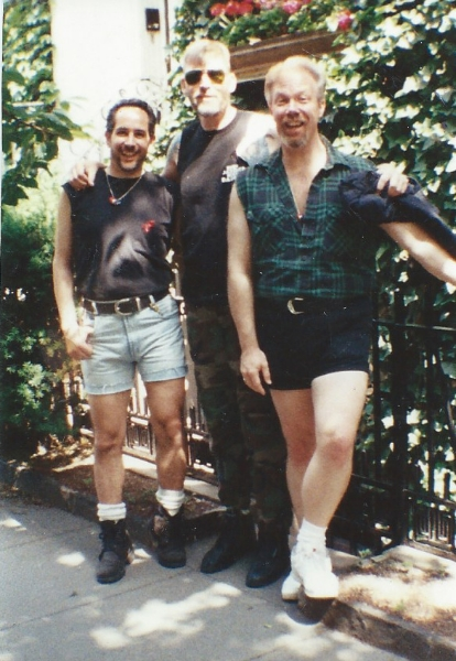 Darren, Norman, and Tom [Left to Right]. Gay Pride Parade, 1986.