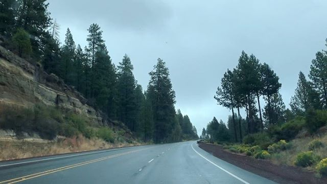 Drive from Crater Lake to Klamath Falls a couple of days ago