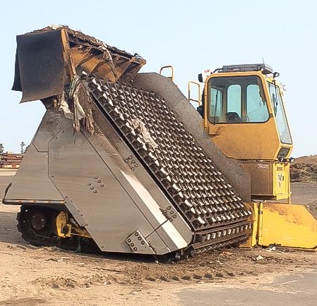 The specially designed compost turner