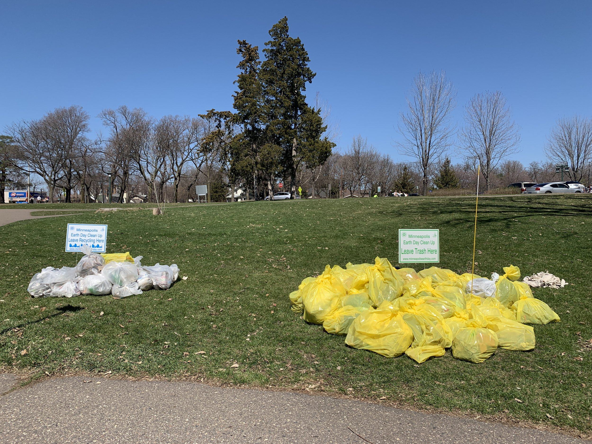 Drop site for the Earth Day Cleanups at Minnehaha Falls