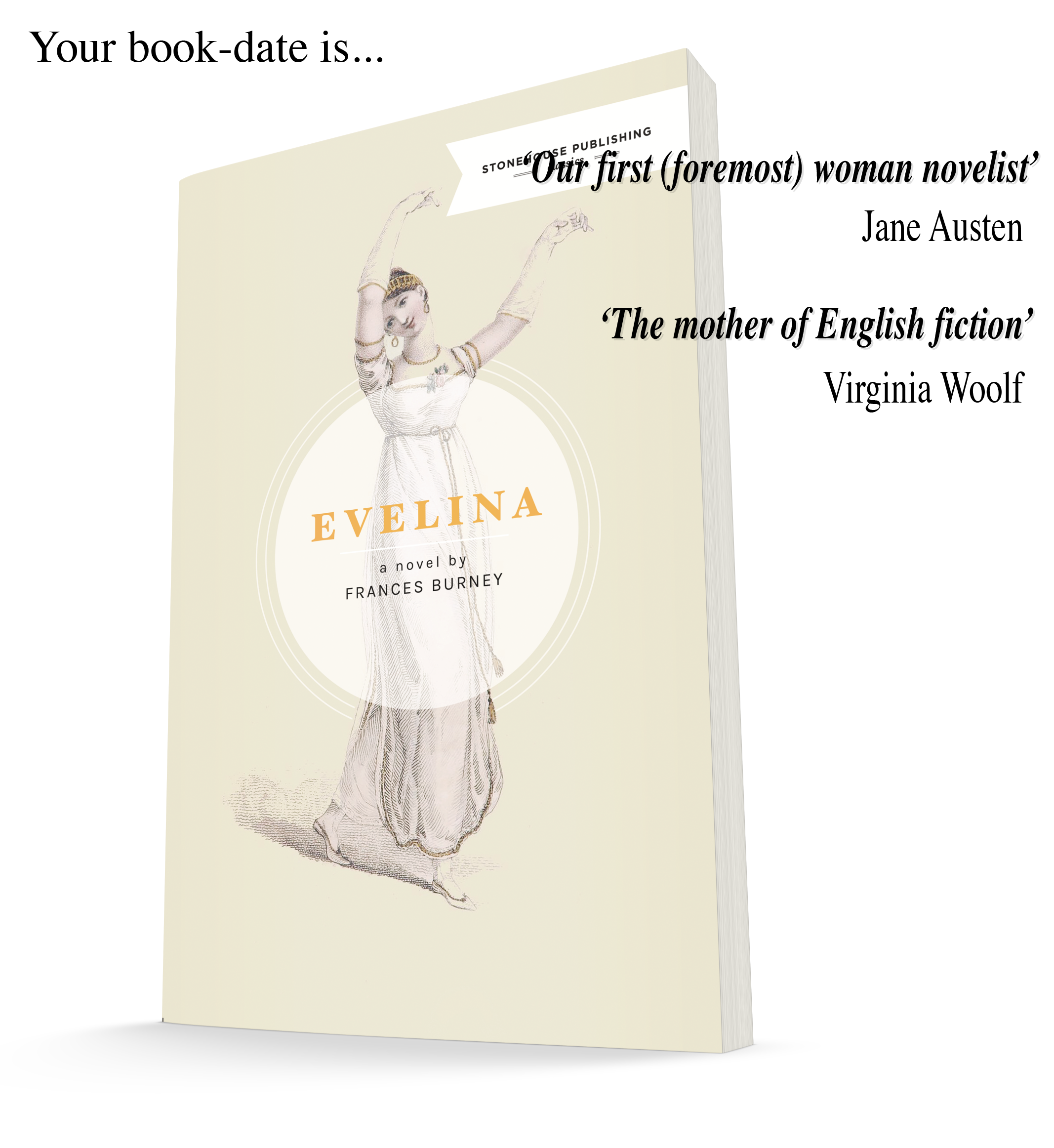 Your book-date is; Evelina