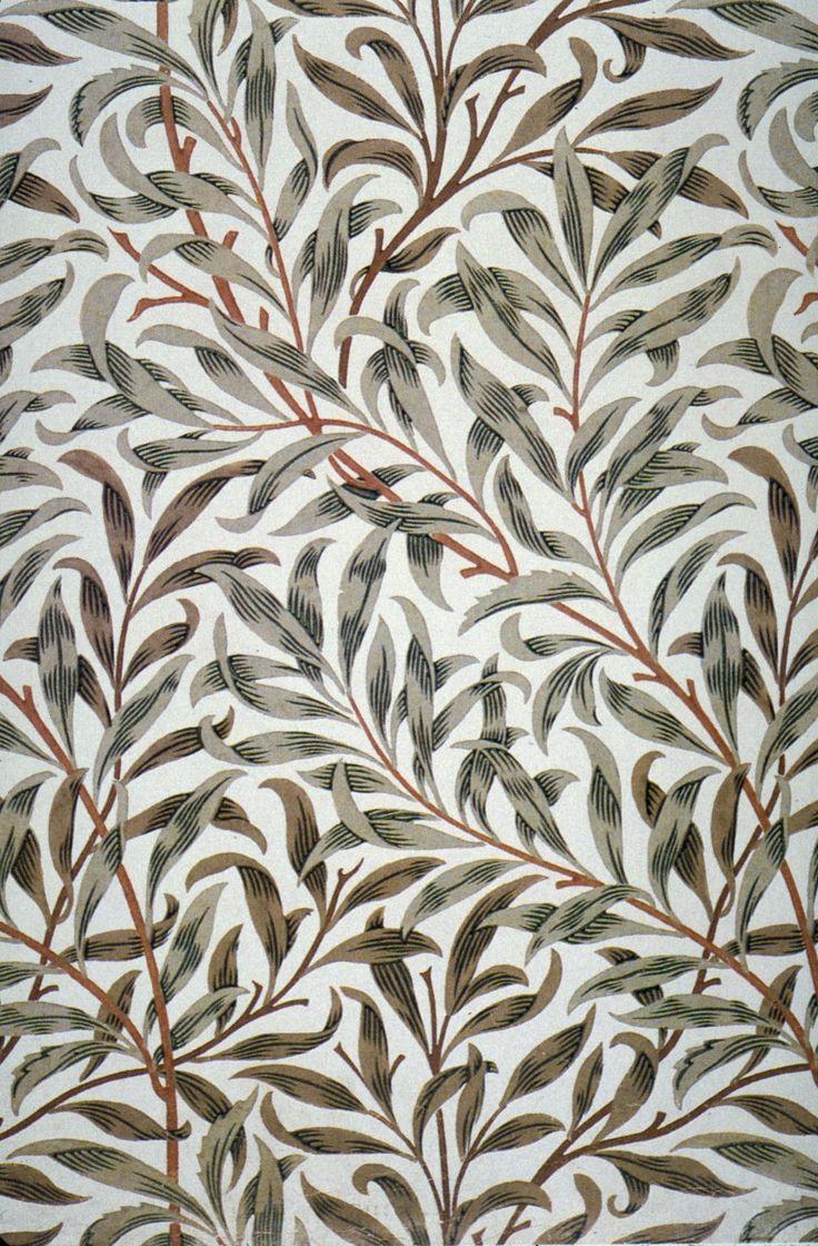 itsdontheman :   Vintage Ephemera: Willow Bough wallpaper designed by William Morris, repurposed as fabric design c. 1895