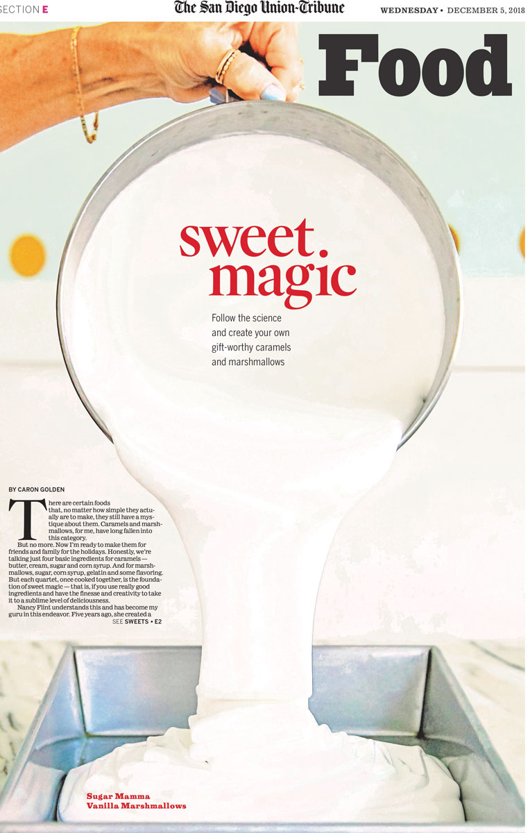 EXTRA, Extra, READ ALL ABOUT IT! - Sugar Mamma Caramels was featured in a 2 page article in the San Diego Union Tribune!