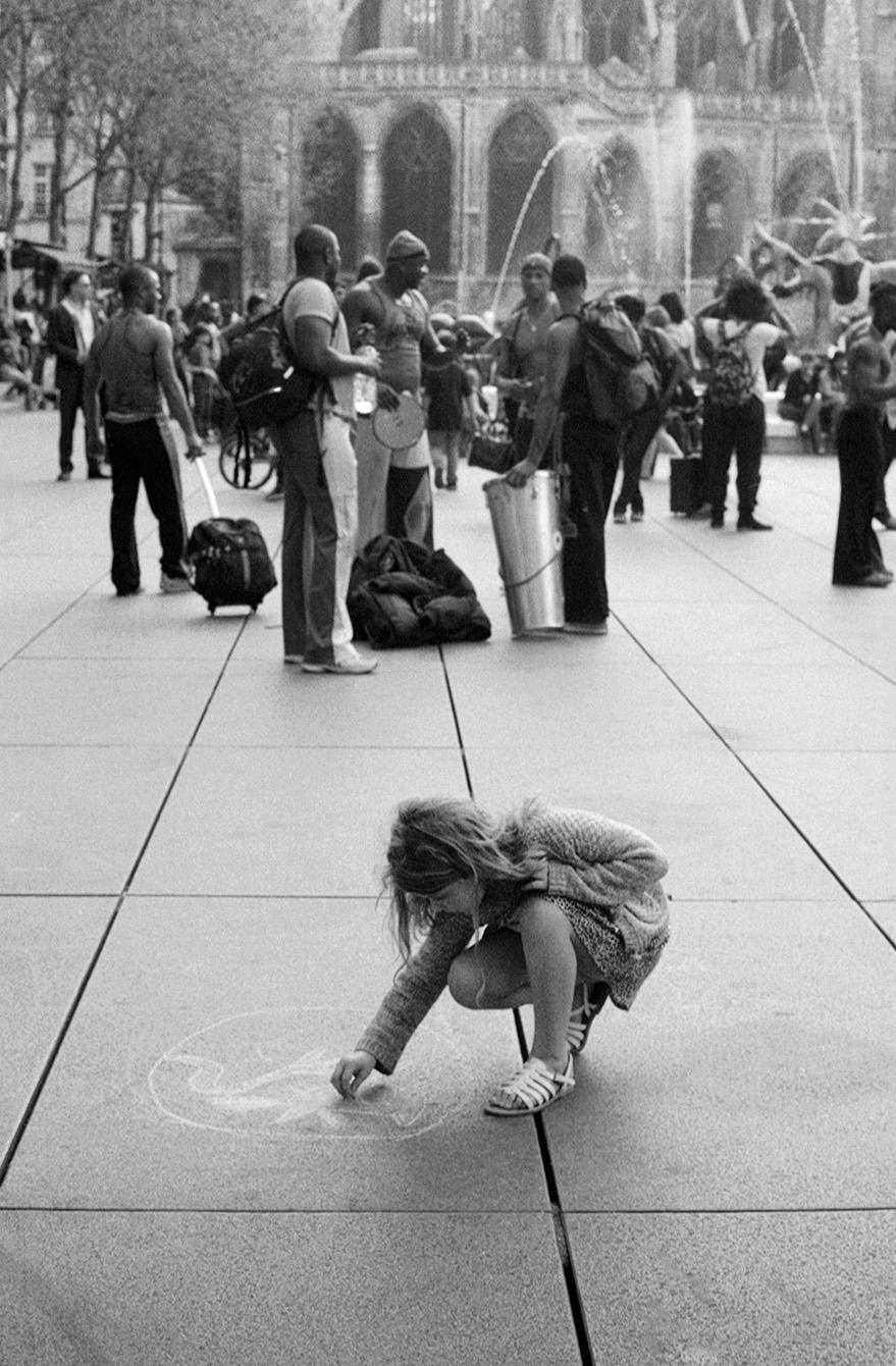 Outside of Centre Georges Pompidou, Paris, France. 2012