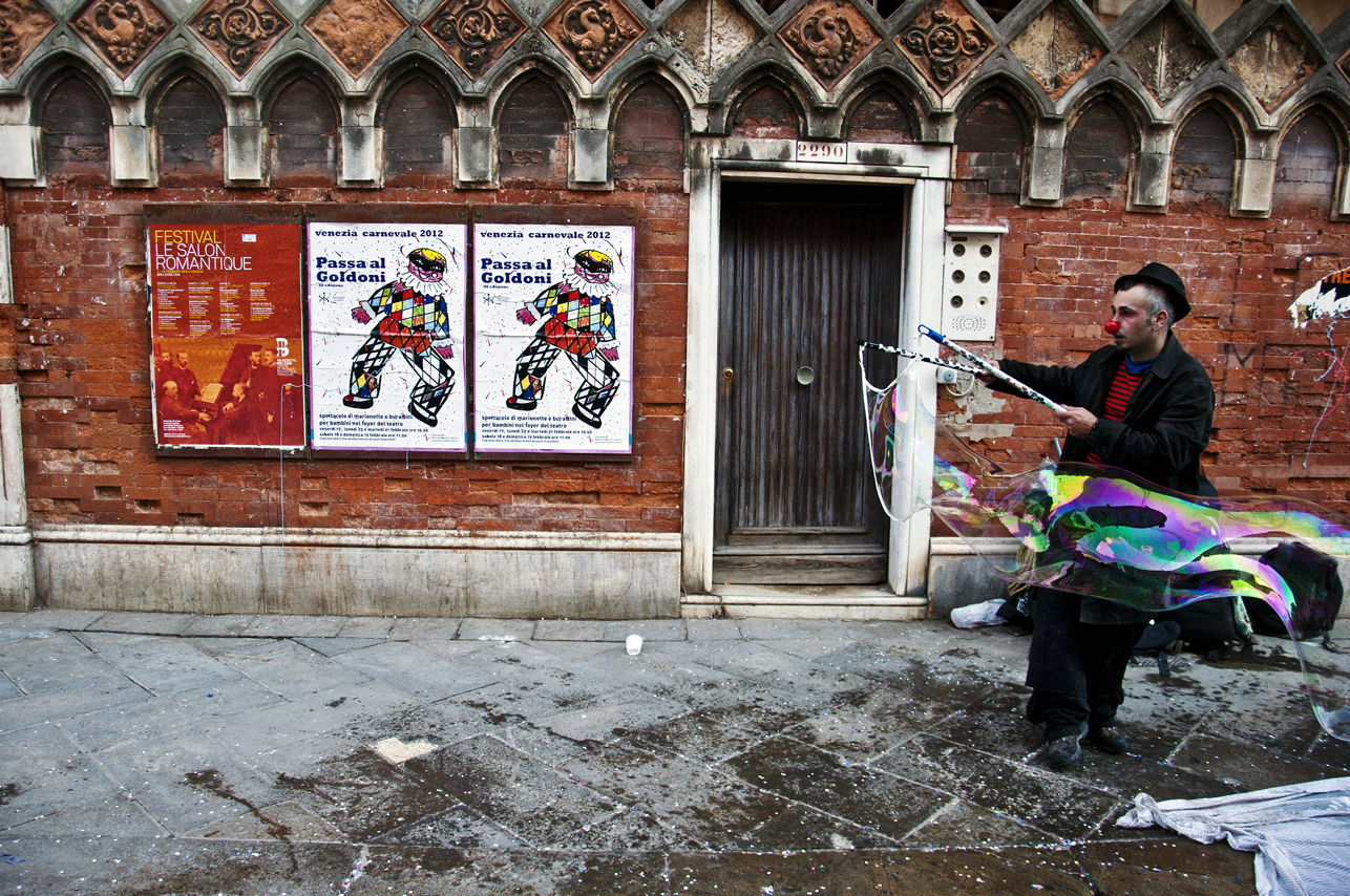 Street performer during Carnevale di Venezia, Venice, Italy. 2012