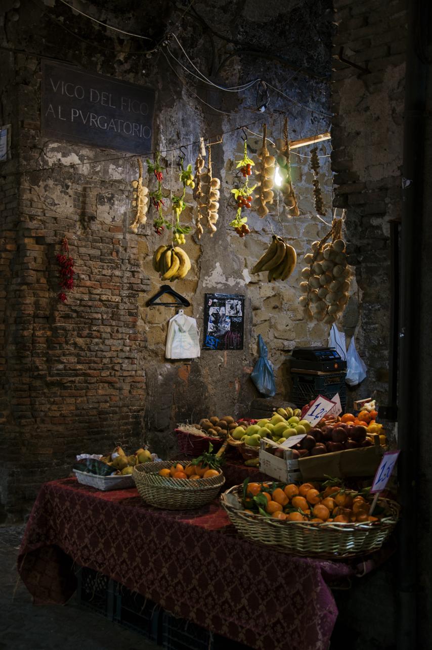 Alley vendor in Naples, Italy. 2012