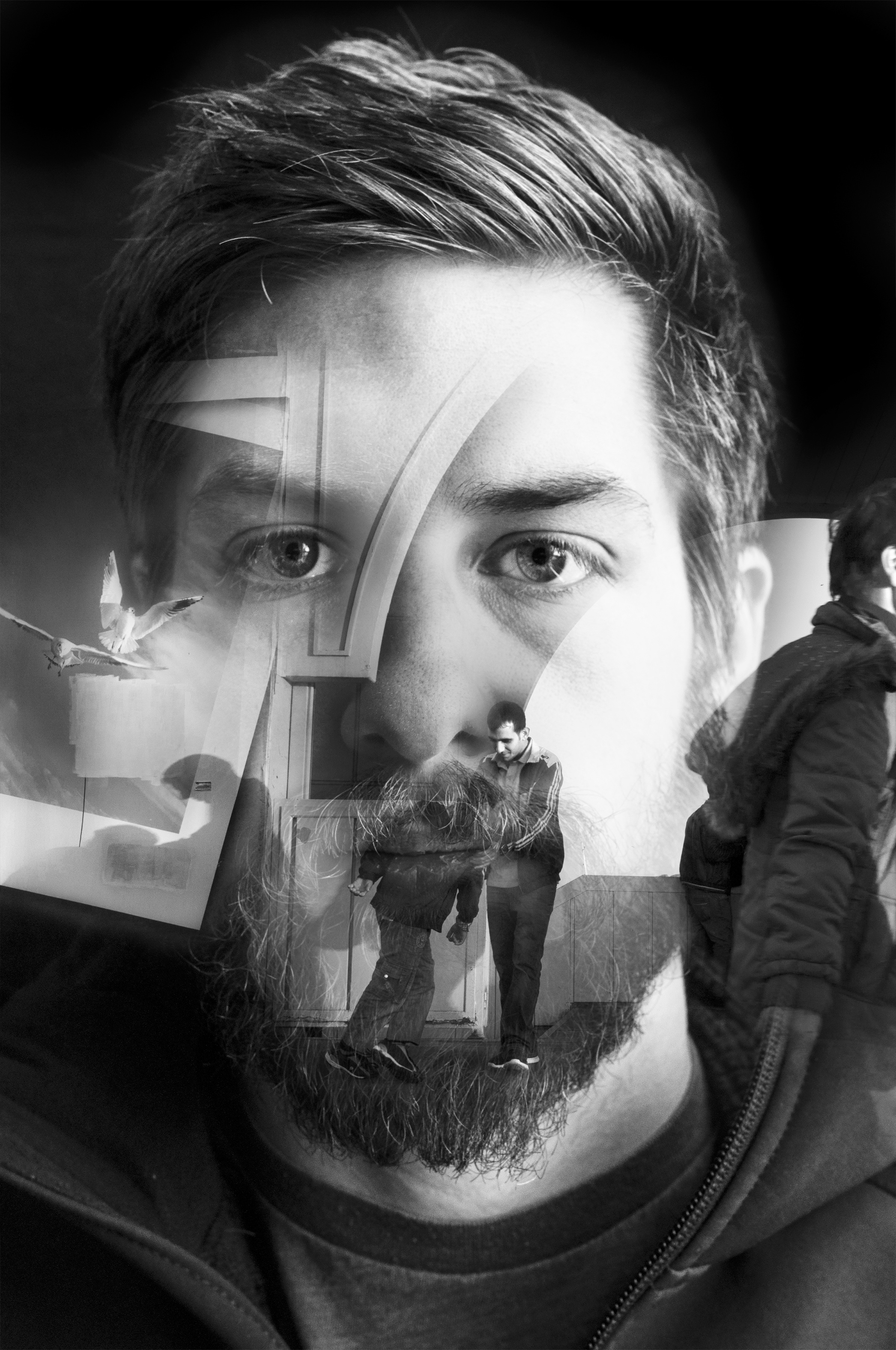 Conceptual portrait of Keith Rutowski. 2014.