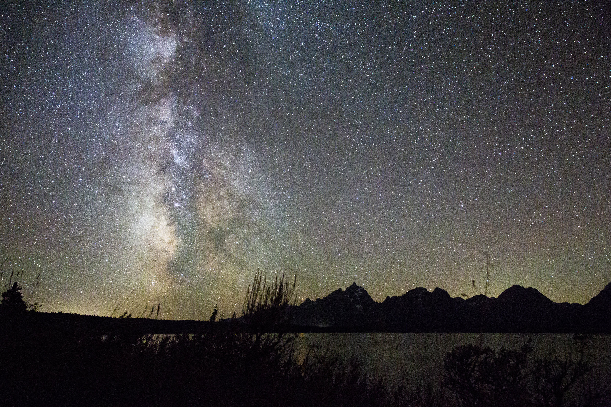 The Milky Way over the Teton Range in Moran, Wyoming. 2018