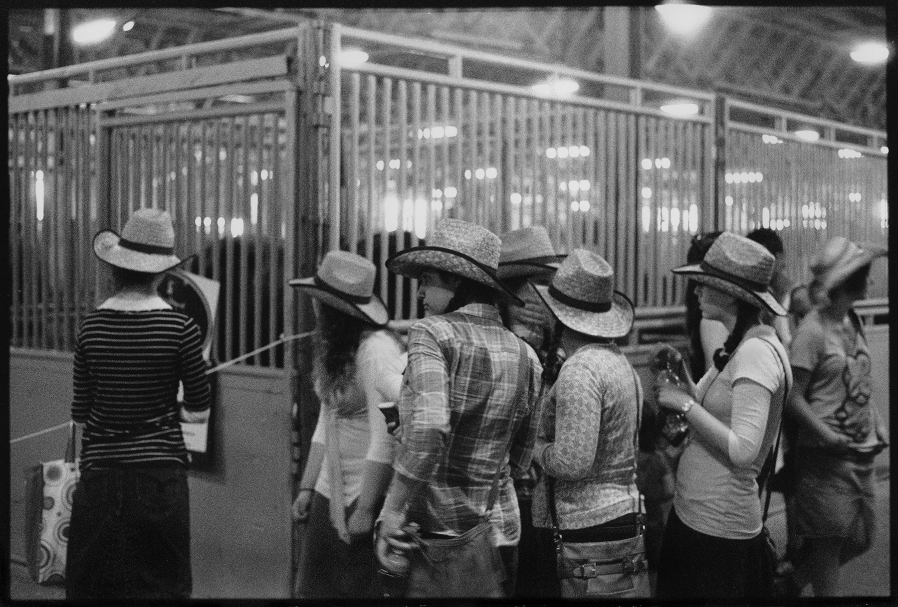Stampede girls in hats, 8x10 print.jpg