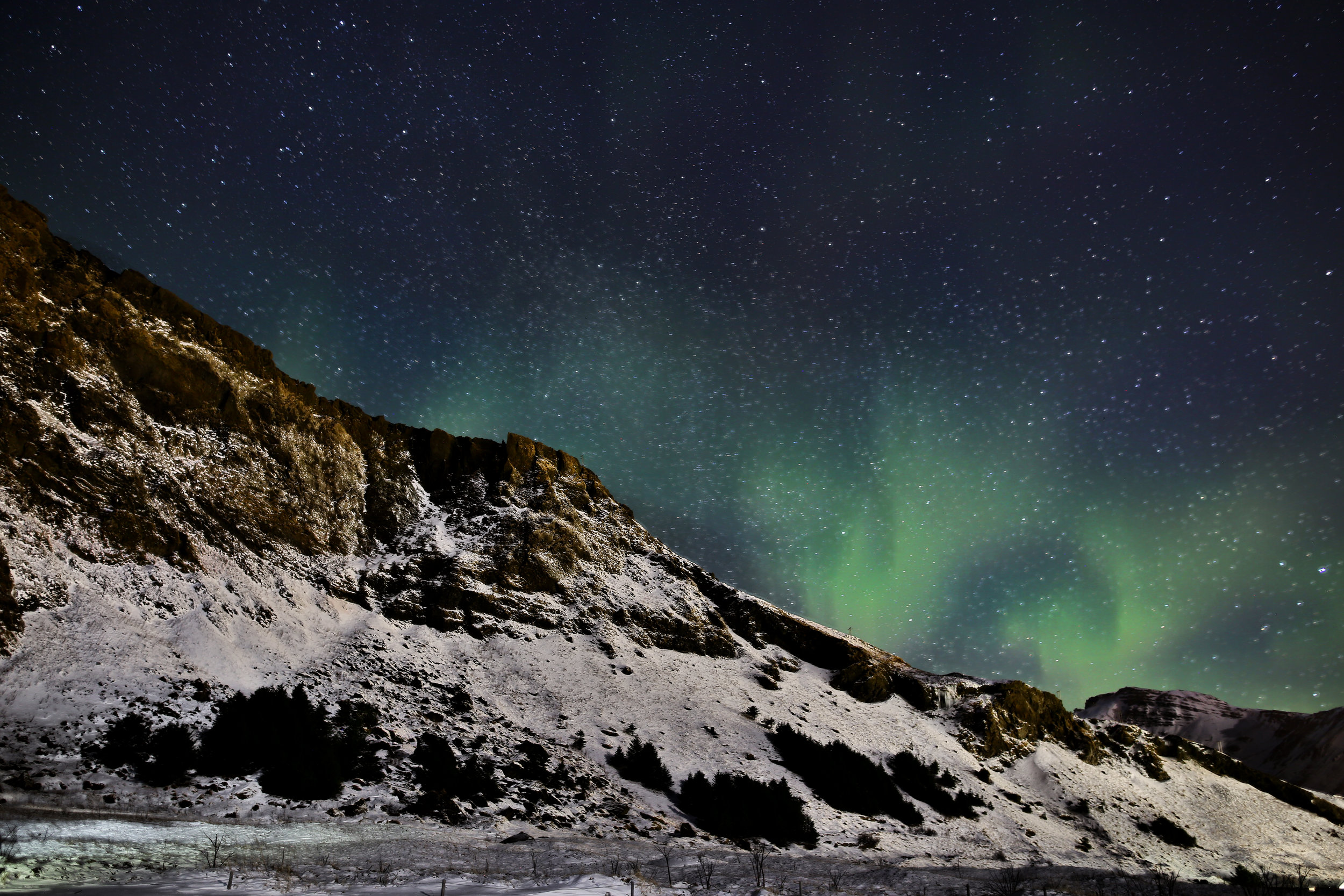 The incredible northern lights I captured while at a destination wedding in Iceland.