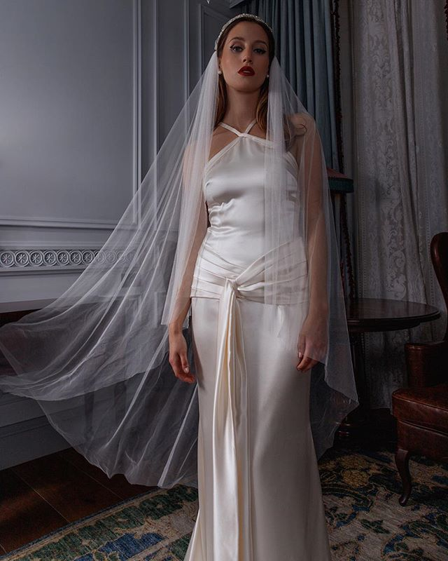 Tatyana dress in silk crepe satin🌟 . . . #adelaisbride #silkweddingdress #1920sfashion #vintagebride #weddingseason #shesaidyes #loveintentionally #featuremeoncewed #smpweddings #loveauthentic #destinationwedding #stylemepretty #huffpostido #weddingchicks #weddingwire #weddinginspo #greenweddingshoes #couplesgoals #bridalmusings