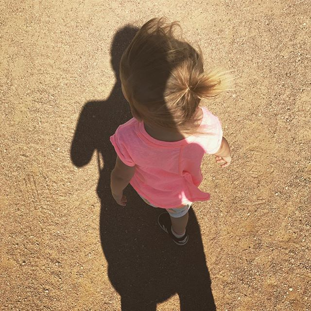 She likes to literally walk in my shadow ☺️ #alwaysbymyside