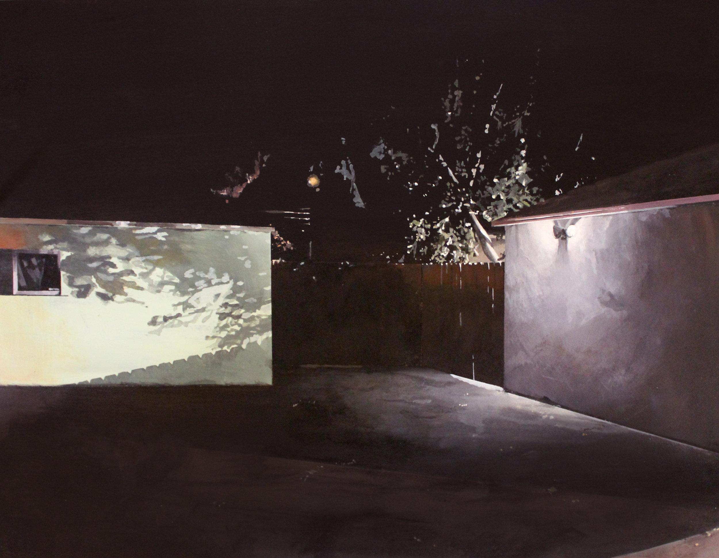 """Duel   20""""x16""""  Acrylic on panel framed  $1,000"""