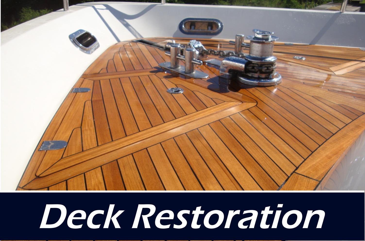 topside and teak deck repair restoration paint varnish wood shop mazatlan mexico