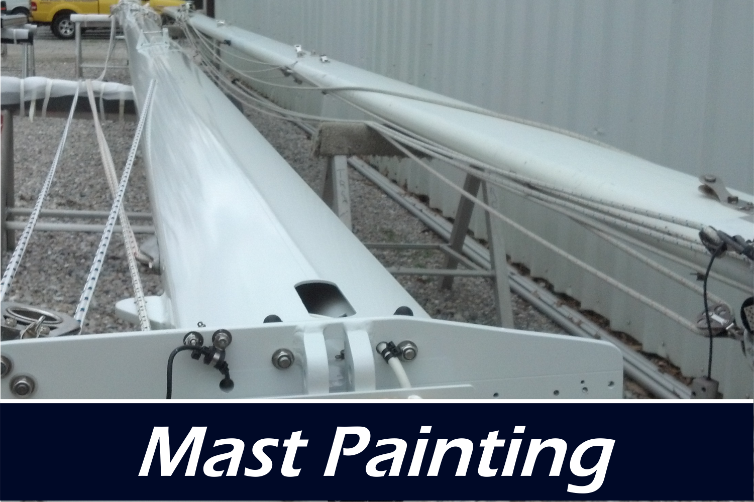 mast removal paint rig tuning and repair