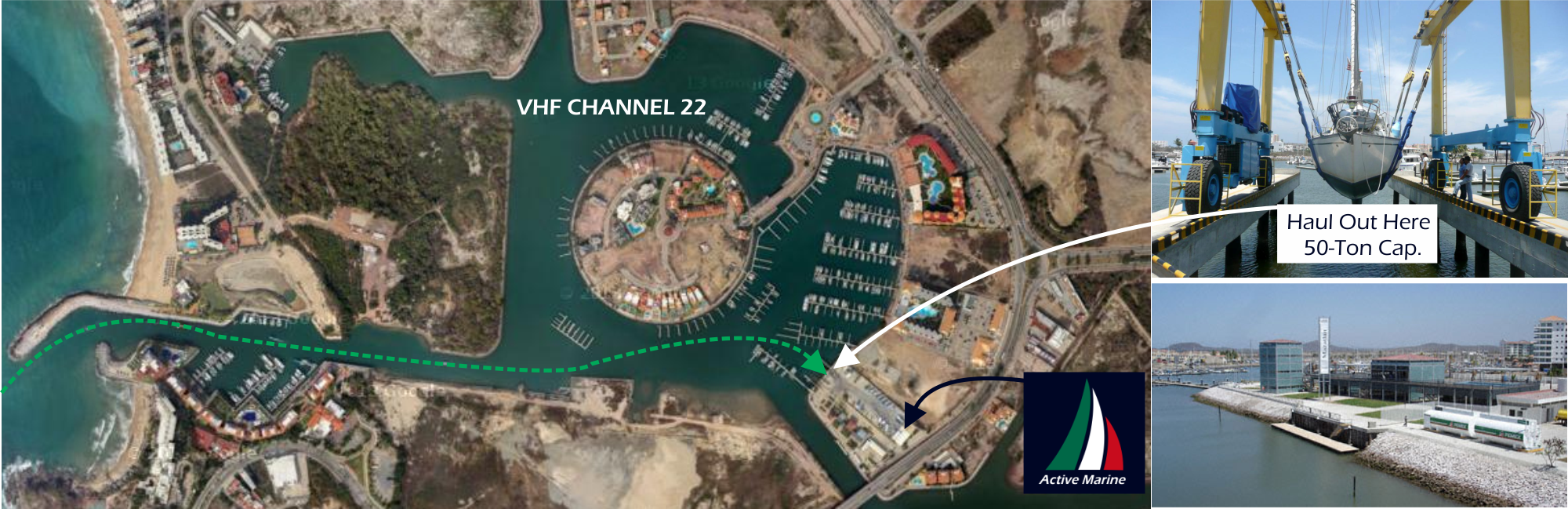 Easy-in and Easy-out with Excellent Amenities Our Fonatur Marina and Boat Yard is somehow both convenient and quiet.