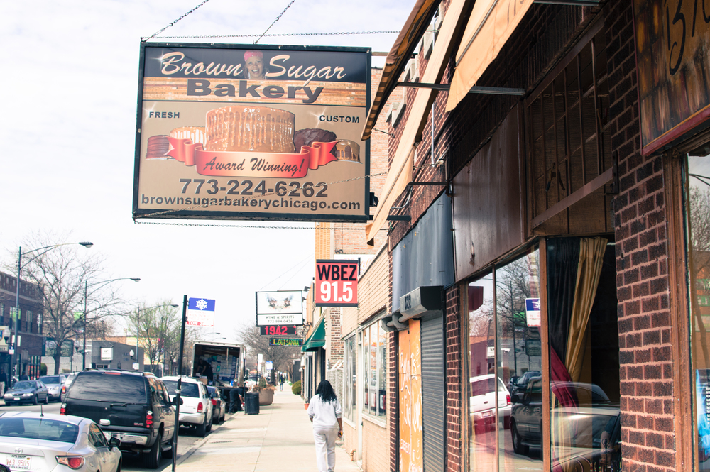 Brown Sugar Bakery, located in the Greater Grand Crossing neighborhood in the South Side of Chicago.