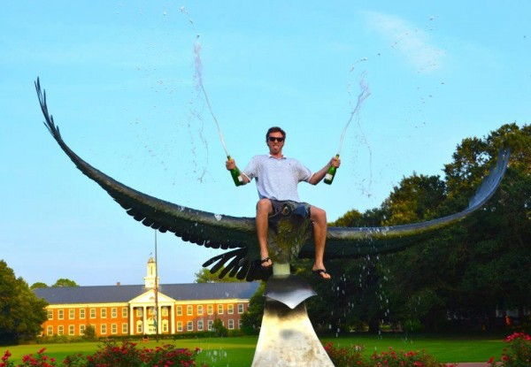 Will your college have a rideable eagle sculpture? How will you know if you don't visit first?