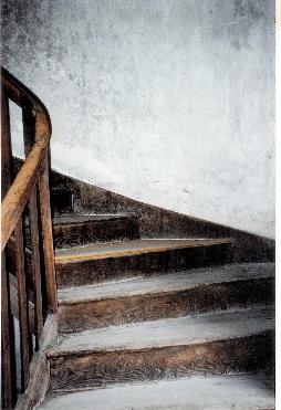 Stairs to the atelier. photo credit: Elizabeth J. Buckey © 1994