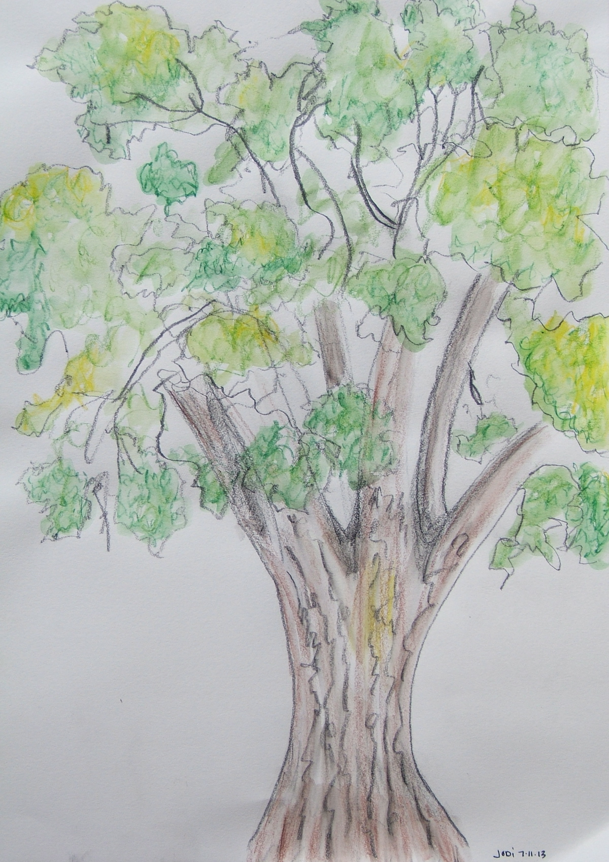 Jodi Wert colored pencil and watercolor from 2013 Ghost Ranch class