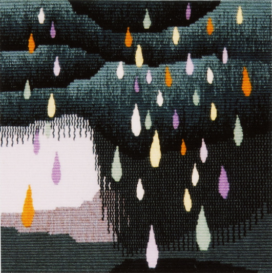 "The Blessing of Rain                  8"" x 8""   ©2001 Elizabeth J. Buckley  photo credit: Elizabeth J. Buckley (scanned by Nancy Wohlenberg)"