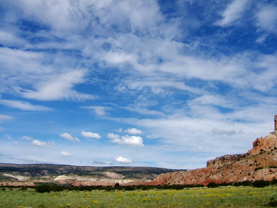 Northern New Mexico clouds. photo credit: Elizabeth J. Buckley  ©2015