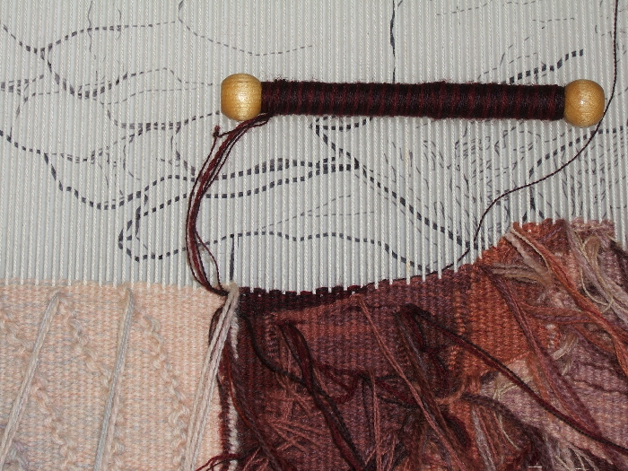 detail of weaving process©2016 Elizabeth J. Buckley photo credit: Elizabeth J. Buckley