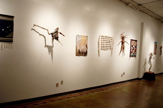 Middle West Wall: Dan Klingelsmith  Plieades,  Elizabeth Buckley  Crane  and  Fossil, Feather and Light ; Ann Blankenship  N-1: Dumpster Diving  and Invasive Species, Naomi Julian  Creation ; Ann Blankenship  N-1 :Turning Sixty