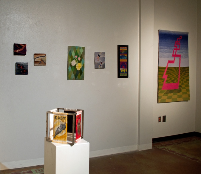 pedestal: Ann Blankenship  Four Directions , Nancy Wohlenberg  Five Sisters Song Series: Hot Flow, New Earth, Soil;  Mary Rawcliffe Colton  Primroses , Nancy Wohlenberg  Substraction: Flow  and  Tangledoodle  , Dan Klinglesmith  Pathway   photo credit: Nancy Wohlenberg
