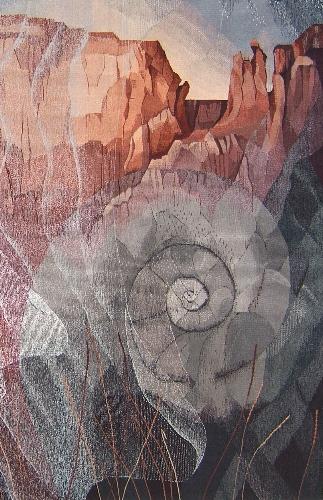 "Veils of Time  detail 60"" x 50"" © 2017 Elizabeth J. Buckley"
