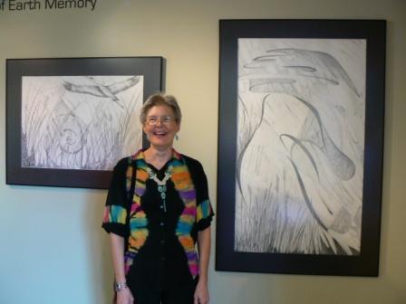 Elizabeth Buckley with drawings:  Prairie Flight  and  Prairie Dance .