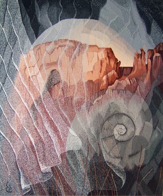 "The Veils of Time  60"" x 50"" ©2017 Elizabeth J. Buckley"