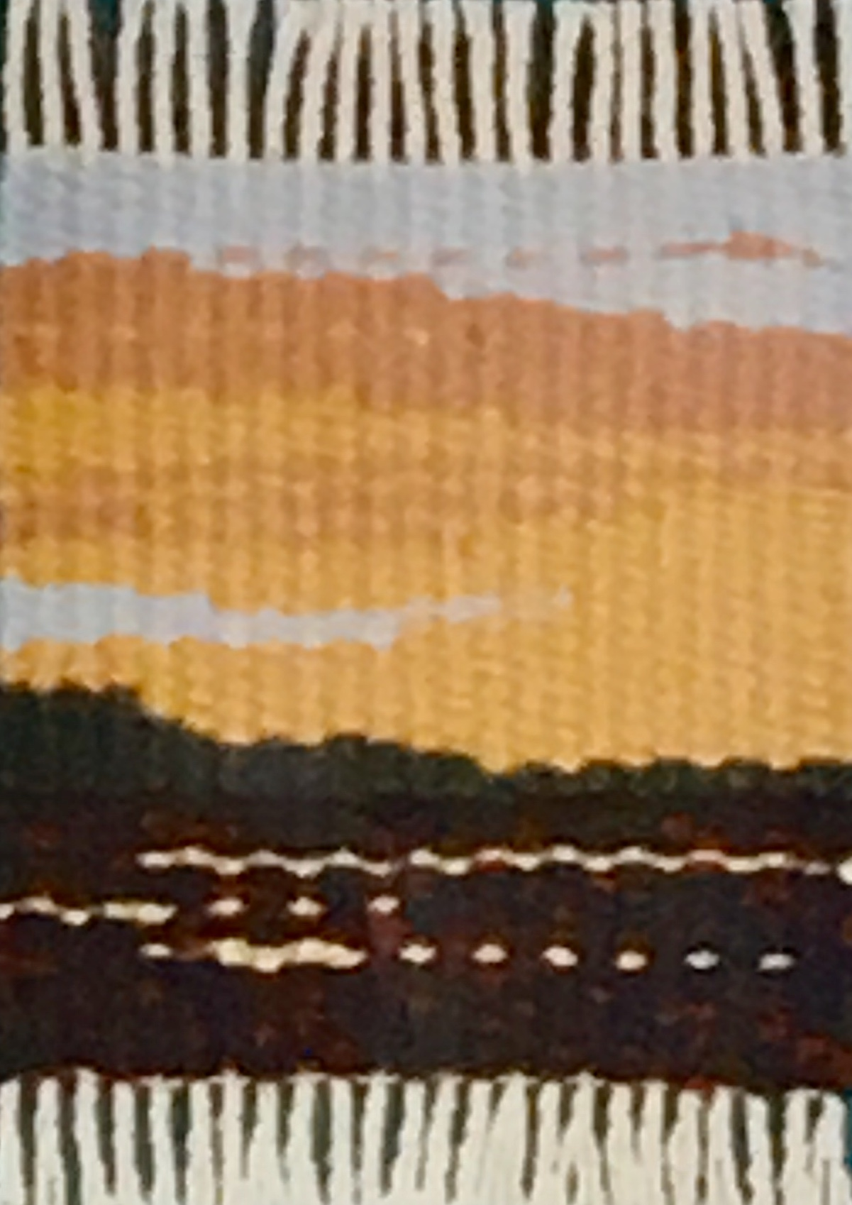 "Sunset Over Albuquerque  3"" x 2"" ©1996 Elizabeth J. Buckley"