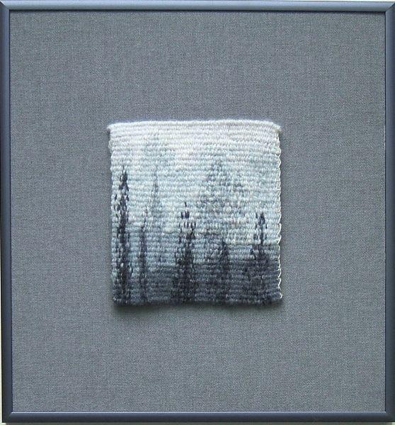"Ghost Trees  10 ½"" x 9 ¾"" ©2018 Elizabeth J. Buckley"