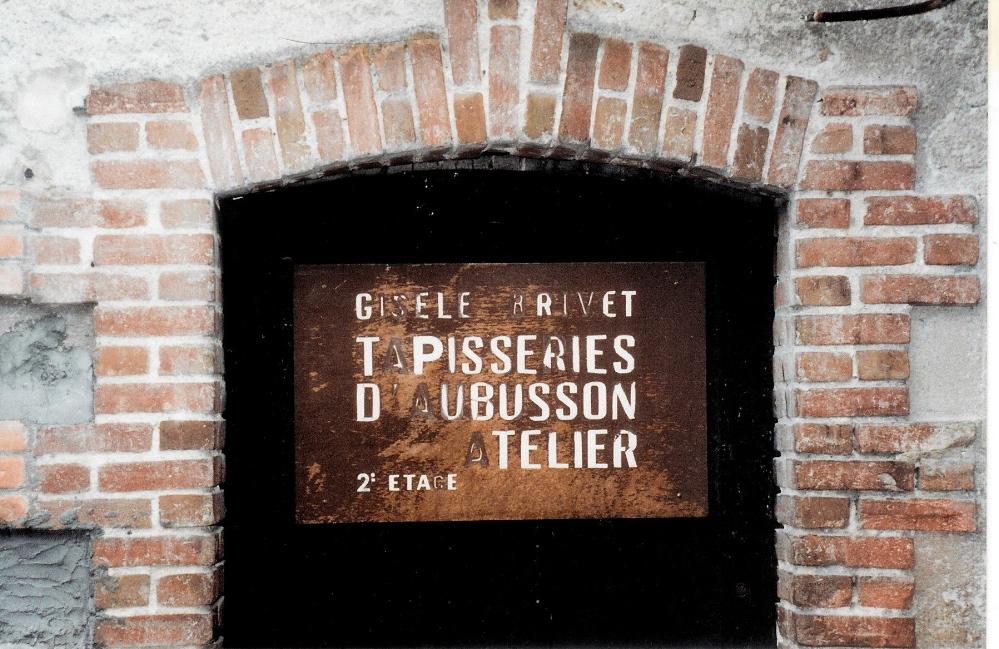 Sign on door for Gisèle Brivet's atelier. photo credit: Elizabeth J. Buckley © 1994