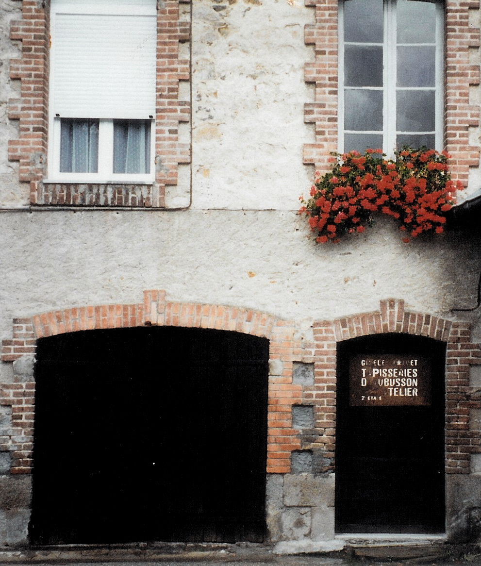 Entrance to the building where Gisèle Brivet's atelier was located. photo credit: Elizabeth J. Buckey © 1994