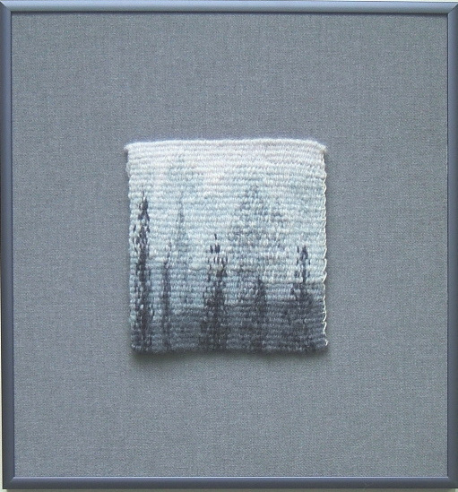 "Ghost Trees,       10 ½"" x 9 ¾""     ©2018 Elizabeth J. Buckley"