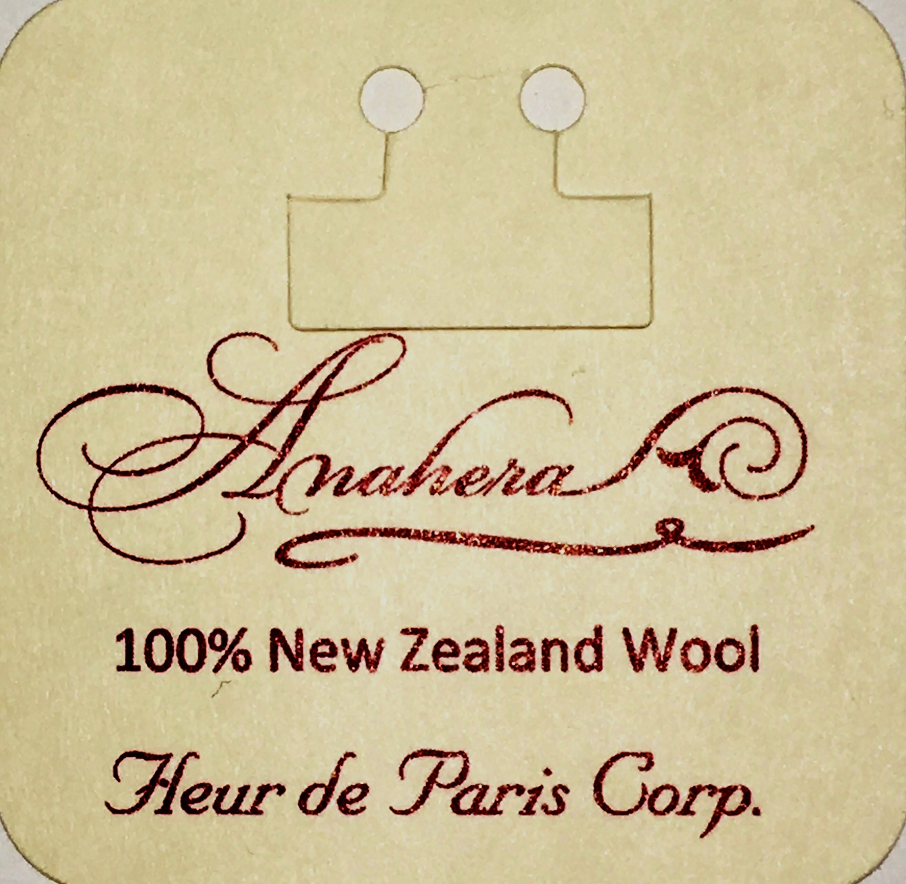 Label for Anahera yarn