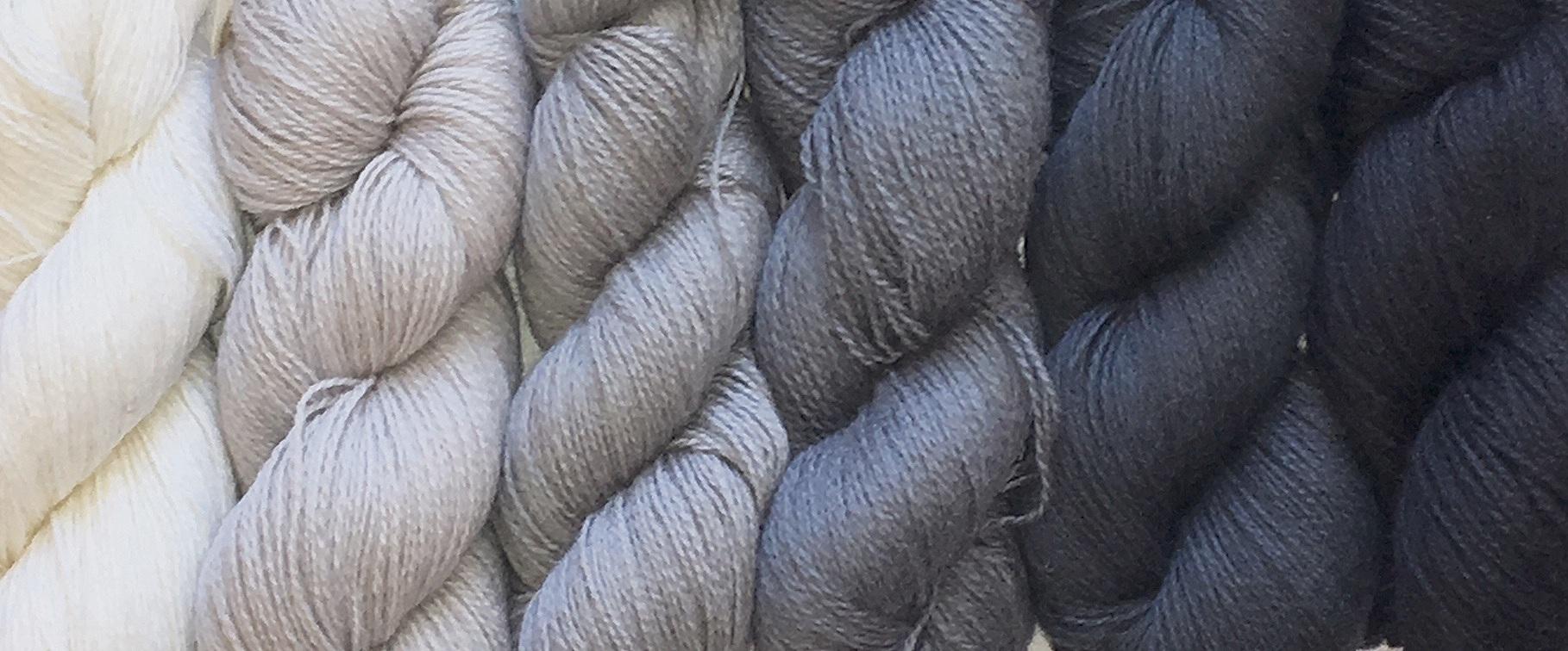 Gray Scale in  Anahera  yarn.  photo credit:  Elizabeth J. Buckley